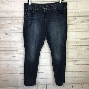 Torrid plus size jeans 22 blue embellished skinny